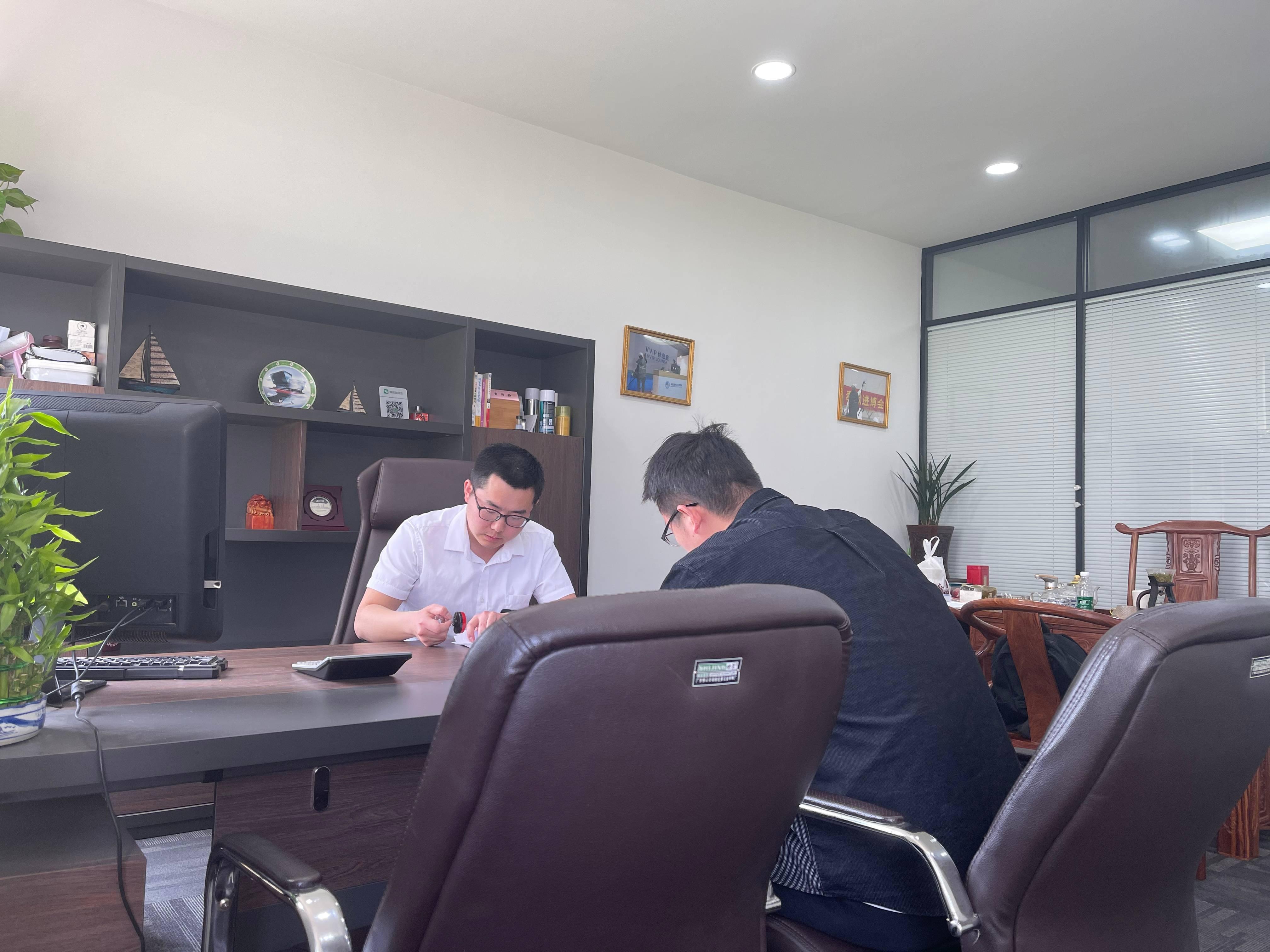 恭喜黄总加入凡斯环保除甲醛公司成为江苏省除甲醛代理商,祝生意兴隆